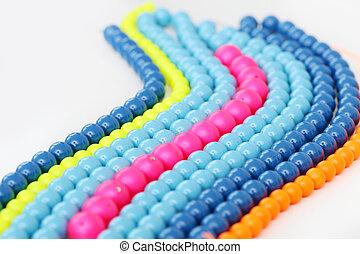 bianco, braccialetto, fondo, colorito
