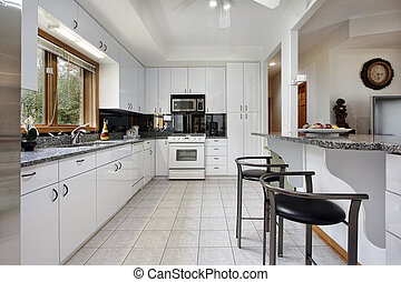 bianco, cabinetry, cucina
