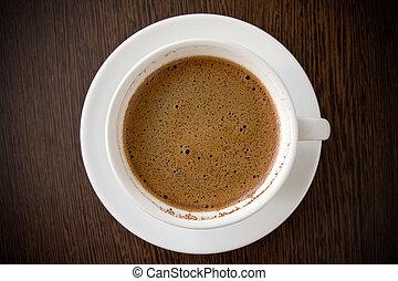 bianco, caffè nero, tazza
