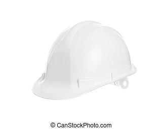 bianco, cappello duro