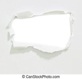bianco, carta, buco
