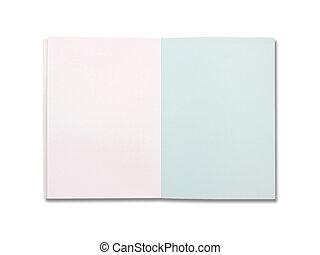 bianco, carta lettere, isolato, fondo, vuoto