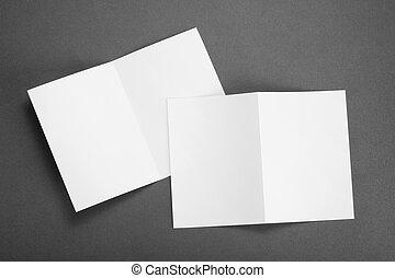 bianco, carta piegando, aviatore, vuoto