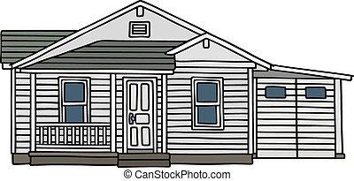 bianco, casa legno