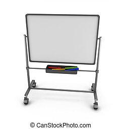bianco, colorato, markers., asse