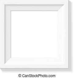 bianco, cornice, immagine, quadrato