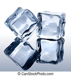 bianco, cubi, ghiaccio
