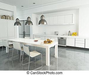 bianco, cucina