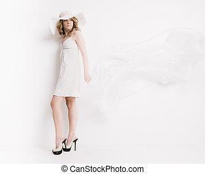 bianco, donna, biondo