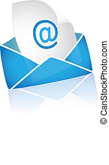 bianco, email, fondo