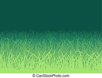 bianco, erba, sfondo verde