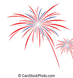 bianco, firework, disegno, fondo