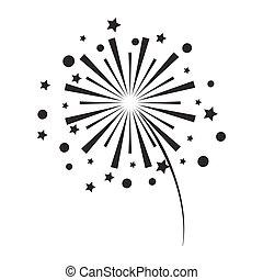 bianco, firework, fondo