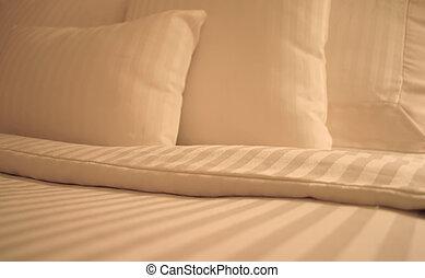 bianco, fogli, letto