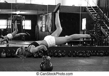 bianco, forza, nero, addestramento