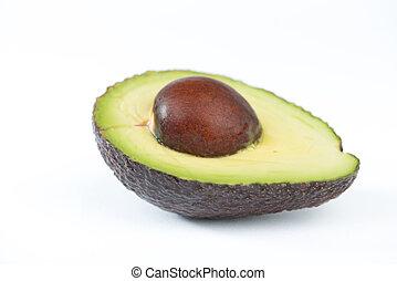 bianco, frutta, avocado, mezzo