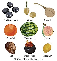 bianco, frutta, fondo