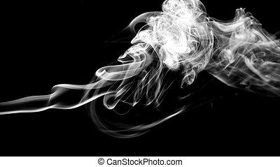 bianco, fumo, fondo