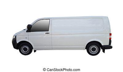 bianco, furgone consegna