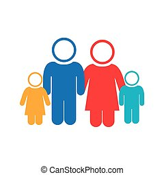 bianco, gruppo, fondo, famiglia, pictogram