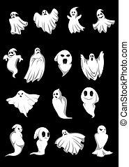 bianco, halloween, fantasmi
