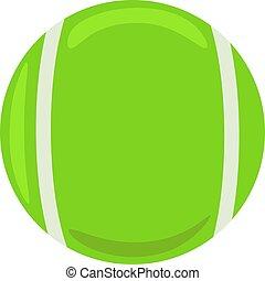 bianco, illustrazione, palla, tennis, vettore, fondo.
