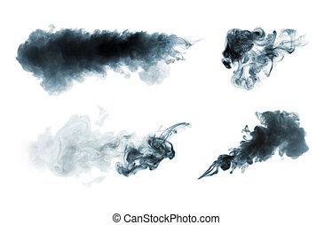 bianco, isolato, fumo