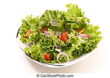 bianco, isolato, insalata