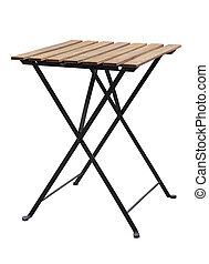 bianco, isolato, tavola, percorso, ritaglio, legno