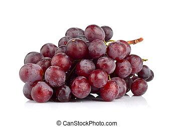 bianco, isolato, uva