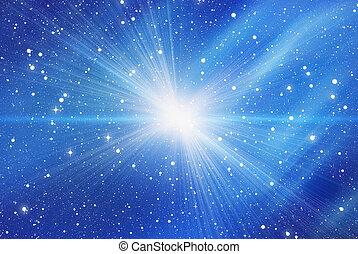 bianco, lampo, sfondi, stelle, spazio