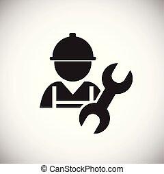 bianco, lavoratore, strappare, fondo