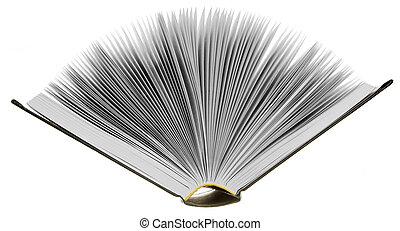 bianco, libri, aperto, fondo