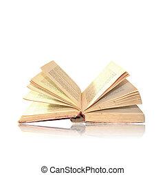 bianco, libro, aperto