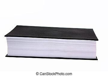 bianco, libro, isolato, fondo