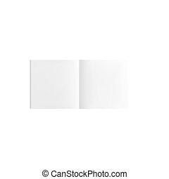 bianco, libro, isolato, fondo, vuoto