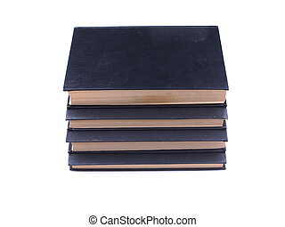bianco, libro, sfondo nero