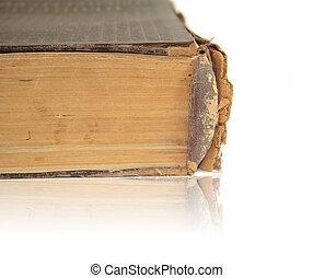 bianco, libro, vecchio