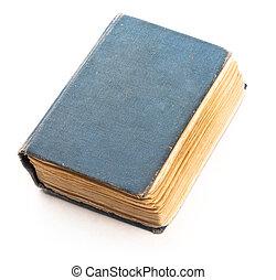 bianco, libro, vecchio, isolato
