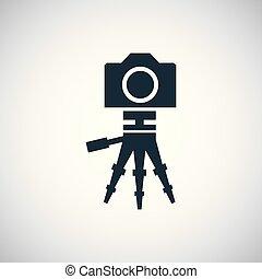 bianco, macchina fotografica, ui, fondo, web, icona, treppiede