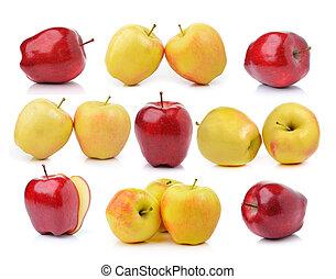bianco, mela, fondo