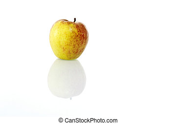 bianco, mela, fondo, uno