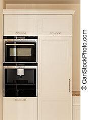 bianco, mobilia, cucina