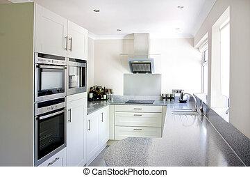 bianco, moderno, cucina