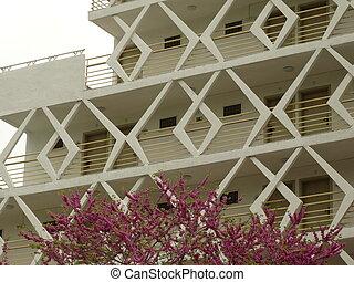 bianco, moderno, disegno, balcone