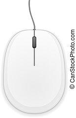 bianco, mouse elaboratore