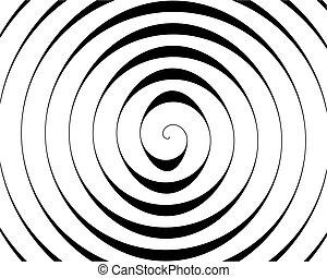 bianco, nero, dettaglio, fondo, spirale
