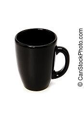 bianco, nero, isolato, tazza