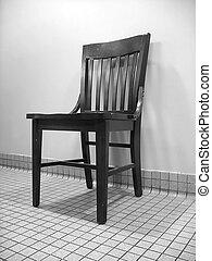bianco, nero, sedia, &