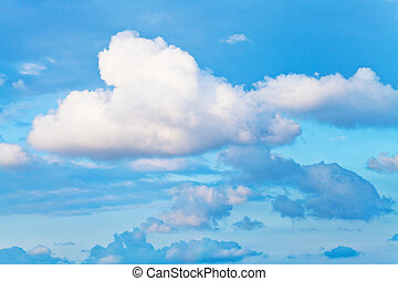 bianco, nube cumulus
